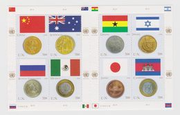 United Nations New York Mi 1033-1040 Flags And Coins China Australia Russia Mexico Ghana Israel Japan Cambodia 2006 * * - Blokken & Velletjes