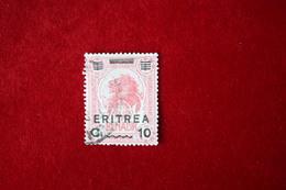 ERITREA  - BENADIR SOMALIA  SOPRASTAMPATI - C 10 SU 1 A - 1922 - USATO - Eritrea