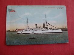 USS Olympia In Boston Harbor  Ref 2784 - Guerra