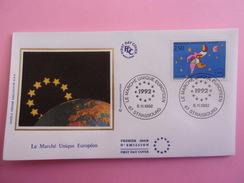 FRANCE FDC 1992 YVERT 2776 LE MARCHÉ UNIQUE EUROPÉEN - FDC