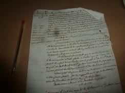 1816 Procès Verbal..Sortie De Messe ...au Sujet Du Général Chabot ...crié VIVE LE ROI Constituant Acte De Sédition; Etc - Manuscrits