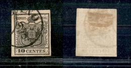 10001 LOMBARDO VENETO - 1850 - 10 Cent Nero (2) I Emissione - Usato (250) - Unclassified
