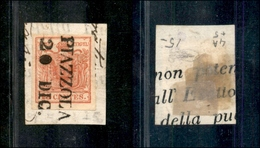 10002 LOMBARDO VENETO - Piazzola 20.12 (Pt.6) - 15 Cent Rosso (3) Su Frammento (140) - Unclassified