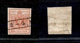 10004 LOMBARDO VENETO - 1850 - 15 Cent Rosso Prima Tiratura (3a) - Annullato 2 Settembre - Usato (75+) - Stamps