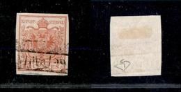 10005 LOMBARDO VENETO - 1850 - 15 Cent Rosso Prima Tiratura (3a) - Usato (75) - Stamps