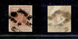 10007 LOMBARDO VENETO - 1850 - 15 Cent Rosso Vermiglio (4) - Annullato STRA Stampatello - Usato (225) - Stamps