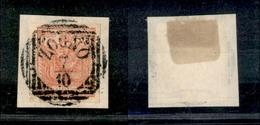 10009 LOMBARDO VENETO - 1850 - 15 Cent Rosso (6) Su Frammento - Zogno 7/10 - Stamps
