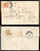 10010 LOMBARDO VENETO - 15 Cent Rosso Chiaro (6a) Su Lettera Da Adria (C3) A Este Del 26.10.1853 - Stamps