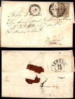 10011 LOMBARDO VENETO - 30 Cent Bruno (7) Su Lettera Da Belluno (Pt.4) A Verona (270) - Stamps