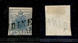 10017 LOMBARDO VENETO - 1850 - 45 Cent Azzurro (10) - I Tipo - Usato (80) - Stamps