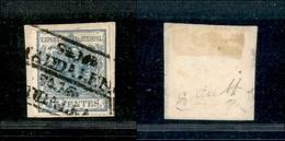 10019 LOMBARDO VENETO - 1850 - 45 Cent Azzurro (10) - Doppio Annullo A Cartella S.M. Maddalena - Stamps