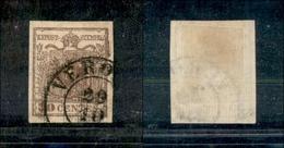 10023 LOMBARDO VENETO - 1851 - 30 Cent Bruno Rossastro (16) Con Carta A Coste Verticali - Verona 20/10 (220) - Unclassified