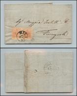 10024 LOMBARDO VENETO - 15 Cent Rosso Vermiglio (20) Coppia Orizzontale Su Lettera Da Milano A Fiorenzuola Del 29.9.58 ( - Stamps