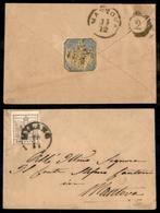 10025 LOMBARDO VENETO - 30 Cent Bruno (21 - Carta A Macchina) Stretto In Basso Su Bustina Da Milano A Mantova Del 10.12  - Stamps