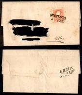 10029 LOMBARDO VENETO - 1859 - 5 Soldi Rosso (30) Su Lettera Da Maniago (Pt.4) A Udine (110) - Unclassified