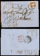 10031 LOMBARDO VENETO - 10 Soldi Bruno II Tipo (31) Su Letterina Da Venezia A Milano Del 5.3.1861 - Tassata - Stamps
