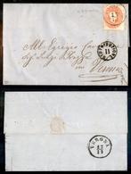 10034 LOMBARDO VENETO - 1861 - Lettera Da S.Bonifacio 17.11.1861 Per Verona Affrancata Con 5 Soldi (33) - Ben Dentellato - Stamps