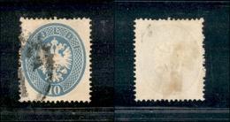 10037 LOMBARDO VENETO - 1863 - 10 Soldi Azzurro (39) - Molto Bello (120) - Stamps