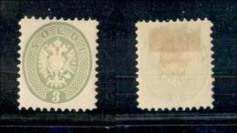 10039 LOMBARDO VENETO - 1864 - 3 Soldi Verde (42) - Nuovo Con Gomma - Splendido (100) - Unclassified