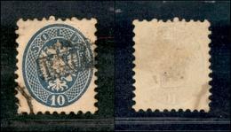 10045 LOMBARDO VENETO - 1864 - 10 Soldi Azzurro (44) - RACC(OMANDATA) In Cartella - Stamps