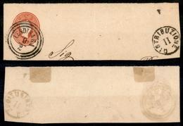 10050 LOMBARDO VENETO - 1861 - Frammento Della Busta Da 5 Soldi (10 - Buste Postali) - Lendinara 9.2. + Distribuzione II - Stamps