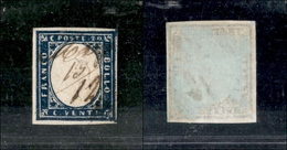 10053 LOMBARDO VENETO - 1855 - Grafici Di Lombardia Su Sardegna - 20 Cent (15) - Buoni Margini - Stamps
