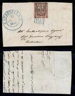 10058 MODENA - 10 Cent Rosa Vivo (2a) Su Frammento Con Annullo A Sbarre Di Guastalla (azzurro) 12.4.56 - Ottimi Margini  - Stamps