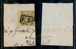10061 MODENA - 1852 - 15 Cent Giallo (3) Grandi Margini E Bordo Foglio - PD Unico Annullatore - Molto Bello - Diena - Stamps