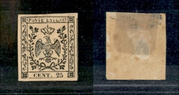 10066 MODENA - 1852 - 25 Cent Camoscio Chiaro (4) Nuovo Con Gomma (350) - Unclassified