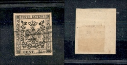10067 MODENA - 1852 - 25 Cent Camoscio (4) - Molto Bello (75) - Stamps