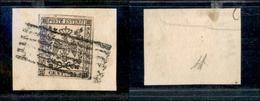 10070 MODENA - 1852 - 25 Cent Camoscio Chiaro (4) Su Frammento (90) - Stamps