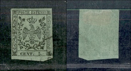 10073 MODENA - 1852 - 5 Cent Verde (7) Usato (70) - Stamps