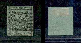 10075 MODENA - 1852 - 5 Cent Verde Oliva (8) Usato - Diena (225) - Stamps