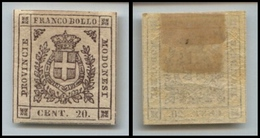 10079 MODENA - 1859 - 20 Cent Lilla Grigio Chiaro (16) Nuovo Con Gomma (150) - Stamps