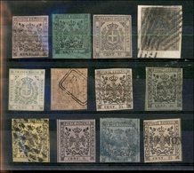 10083 MODENA - 1852/1859 - Dodici Pezzi Del Periodo - Da Esaminare - Unclassified