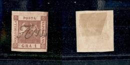 10089 NAPOLI - 1858 - 1 Grano Carminio Scuro (4c) Annullato (160) - Unclassified