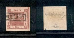 10091 NAPOLI - 1859 - 1 Grano Rosa Carminio Scuro (4c) - Grandi Margini - Lusso - Giulio Bolaffi (160+) - Unclassified