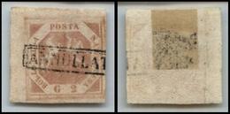 10093 NAPOLI - 1858 - 2 Grana Rosa Brunastro (5c) Angolo Di Foglio Posizione 1 - Usato - Stamps