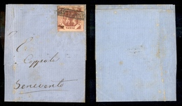 10096 NAPOLI - 1858 - 2 Grana Rosa Brunastro (6b) Su Parte Di Lettera (120) - Stamps