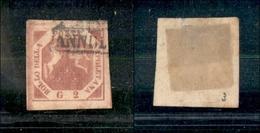 10097 NAPOLI - 1858 - 2 Grana Rosso Mattone (6c) Seconda Tavola - Usato (250) - Unclassified