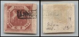10098 NAPOLI - 1858 - 2 Grana Carminio Vivo (7e) Bordo Di Foglio (50+) - Stamps