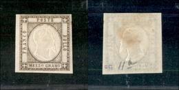 10103 NAPOLI - PROVINCE NAPOLETANE - 1861 - Mezzo Grano Bruno Grigiastro (18c) Nuovo Con Gomma (400) - Stamps