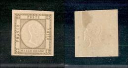 10104 NAPOLI - PROVINCE NAPOLETANE - 1861 - Mezzo Grano Bruno (18d) - Molto Bello - Nuovo Con Gomma (350) - Stamps