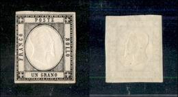 10106 NAPOLI - PROVINCE NAPOLETANE - 1861 - 1 Grano Nero (19) Appena Corto A Sinistra Nuovo Con Gomma (550) - Stamps