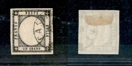 10107 NAPOLI - PROVINCE NAPOLETANE - 1861 - 1 Grano Nero (19) Annullato (60) - Stamps