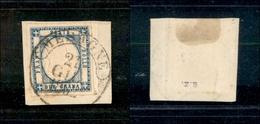 10109 NAPOLI - PROVINCE NAPOLETANE - Mesagne 21.6.62 (Pt.5) - 2 Grana Azzurro Chiaro (20) Su Frammento - Molto Bello - Stamps