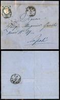 10112 NAPOLI - PROVINCE NAPOLETANE - 1861 - 2 Grana Azzurro Scuro (20d) Su Lettera Da Bari A Napoli Del 4.12.1861 (75) - Stamps
