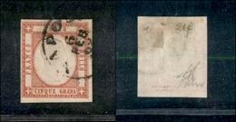 10115 NAPOLI - PROVINCE NAPOLETANE - 1861 - 5 Grana Rosso Carminio (21) Annullato - Margini Completi (225) - Stamps