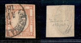 """10116 NAPOLI - PROVINCE NAPOLETANE - 1861 - 5 Grana Vermiglio (21a) Annullato """"Partenza Da Napoli"""" (275) - Unclassified"""