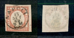 10117 NAPOLI - PROVINCE NAPOLETANE - 1861 - 5 Grana Carminio (21f) Annullato (275) - Stamps